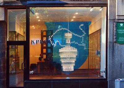 Кинетическая витрина для завода «Кристалл» в Выборге